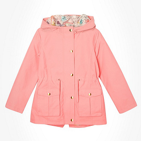 bluezoo - Girl+s pink hooded parka coat