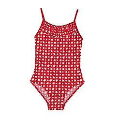 bluezoo - Girl's red star patterned swimsuit