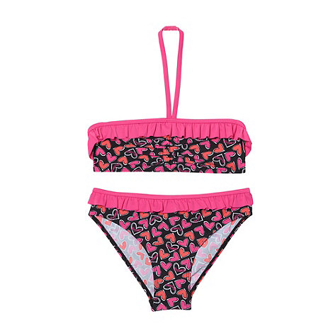 Pineapple - Girl+s pink heart bikini