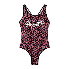 Pineapple - Girl's pink heart swimsuit