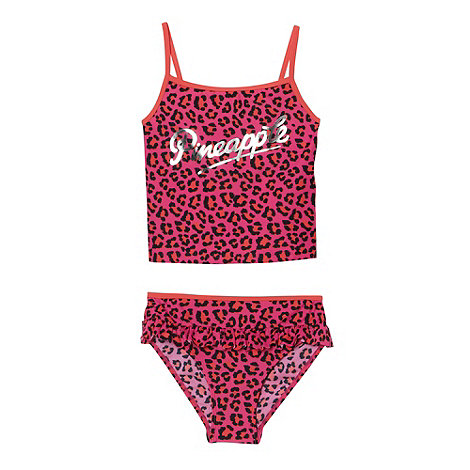 Pineapple - Girl+s pink animal tankini