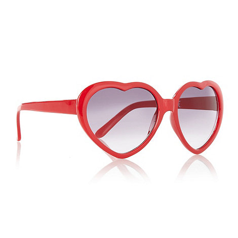 bluezoo - Girl+s red heart frame sunglasses
