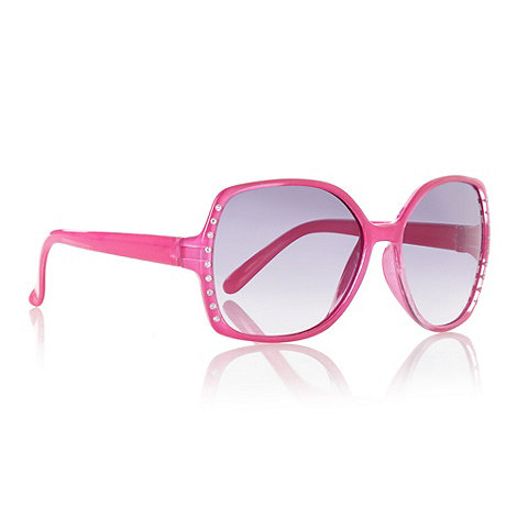 bluezoo - Girl+s pink diamante frame sunglasses