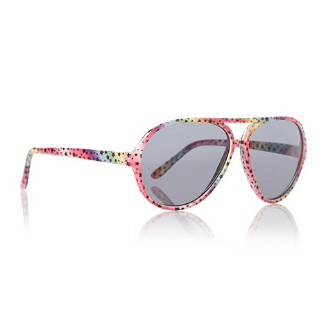 bluezoo - Girl+s pink star patterned aviator sunglasses