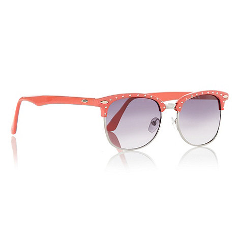 bluezoo - Girl+s coral half studded frame sunglasses