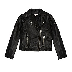 bluezoo - Girl's black biker jacket