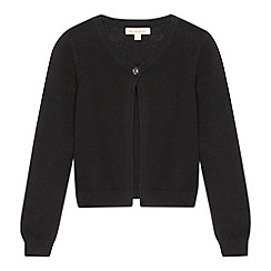 bluezoo - Girl's black single button cardigan