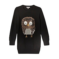 bluezoo - Girl's black sequin owl tunic
