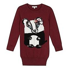 bluezoo - Girl's wine badger tunic jumper