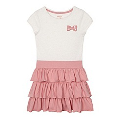 bluezoo - Girl's pink jersey tiered dress