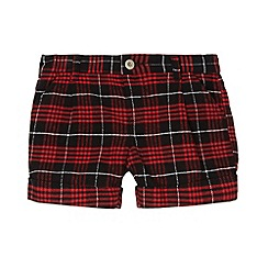bluezoo - Girl's red checked shorts