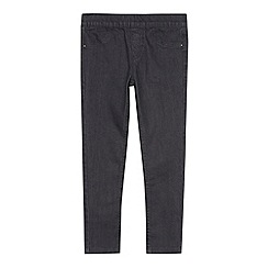 bluezoo - Girl's grey twill jeggings