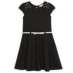 bluezoo - Girl's black ponte gem dress
