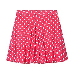 bluezoo - Girl's pink spotted skater skirt