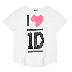 One Direction - Girl's white 'I Love 1D' t-shirt