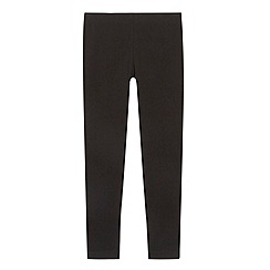bluezoo - Girl's black plain leggings