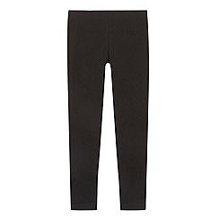 bluezoo - Girl's black plain leggings