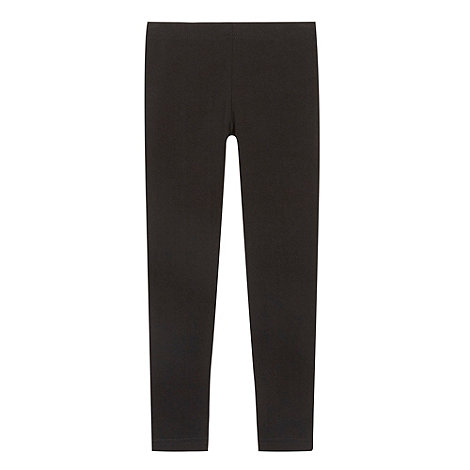bluezoo - Girl+s black plain leggings