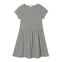 bluezoo - Girl's grey pintucked jersey dress