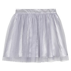 bluezoo - Girl's grey glitter mesh tutu skirt