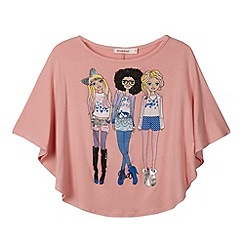 bluezoo - Girl's pink 'trendy girls' cape top