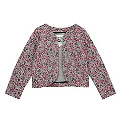Mantaray - Girl's navy floral quilted jacket