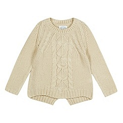 Mantaray - Girl's camel cable knit jumper