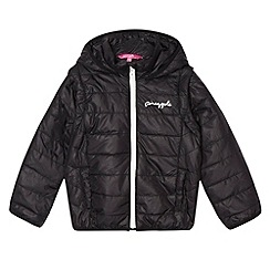 Pineapple - Girl's black quilted jacket