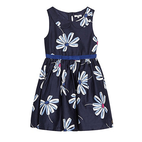 J by Jasper Conran - Designer girl+s navy ribbon daisy prom dress