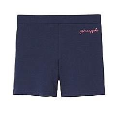 Pineapple - Girl's navy jersey dance shorts