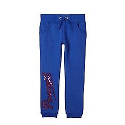 Pineapple - Girl's blue sequin logo jogging bottoms