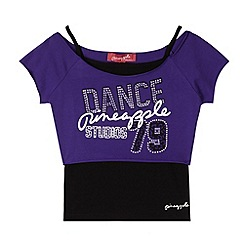 Pineapple - Girl's purple 'Dance 79' 2-in-1 top