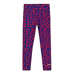 Pineapple - Girl's blue heart print leggings