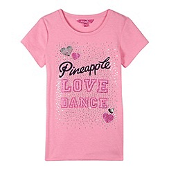 Pineapple - Girl's pink logo top