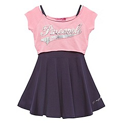 Pineapple - Girl's pink 2-in-1 skater dress