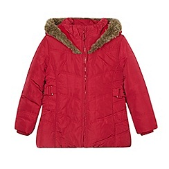 J by Jasper Conran - Designer girl's dark pink chevron padded coat