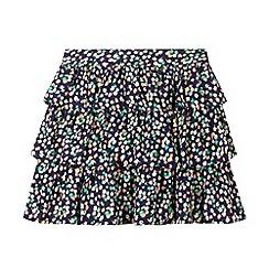 J by Jasper Conran - Designer girl's blue ditsy floral ra-ra skirt
