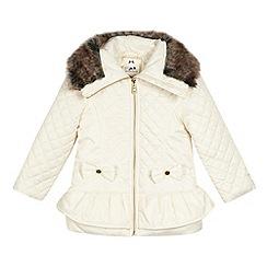 Star by Julien Macdonald - Designer girl's cream padded peplum jacket