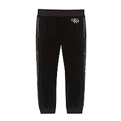 Star by Julien MacDonald - Designer girl's black studded velour jogging bottoms