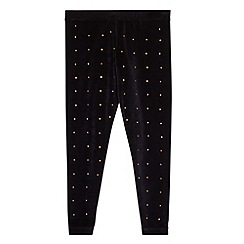 Star by Julien MacDonald - Designer girl's black velour studded leggings