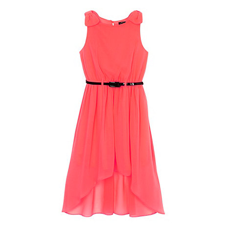 Star by Julien Macdonald - Designer girl's neon coral dress