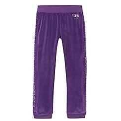 Star by Julien Macdonald - Designer purple studded velour leggings