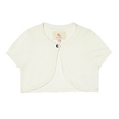 RJR.John Rocha - Designer girl's off white knitted cardigan