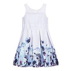 RJR.John Rocha - Designer girl's lilac floral border dress