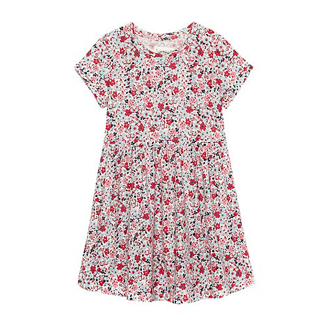 Mantaray - Girl+s pink floral print t-shirt dress
