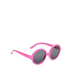 bluezoo - Girl's pink round frame sunglasses
