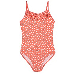 bluezoo - Girl's red heart printed swimsuit