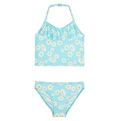 bluezoo - Girl's light blue daisy tankini