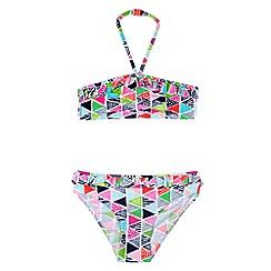 bluezoo - Girl's pink aztec print bikini