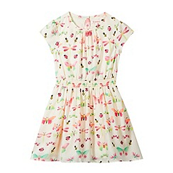 bluezoo - Girl's cream neon butterfly dress